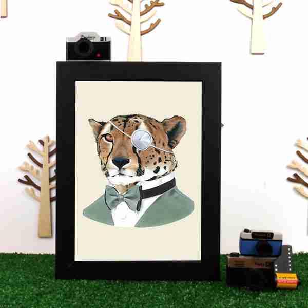 Ryan Berkley Well Dressed Cheetah Framed Print Wall Art