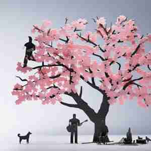 1/100 Mini Architectural Model: Cherry Blossom