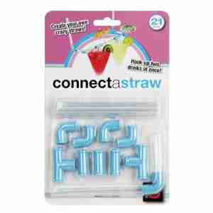 Connect-A-Straw Novelty Straw Connects Like Pipes