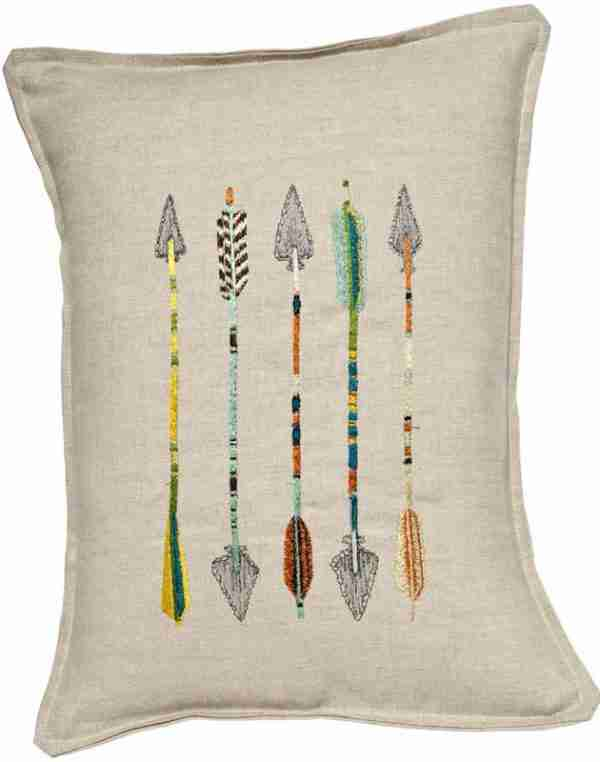 Five Arrows Pillow (Feather-Down) by Coral & Tusk