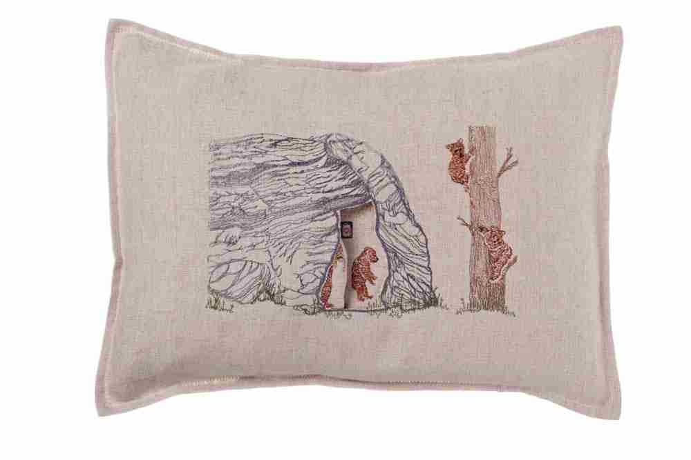 Bear Cave Pocket Pillow (Feather-Down) by Coral & Tusk