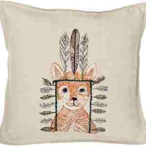 Fox Portrait Pillow (Feather-Down) by Coral & Tusk