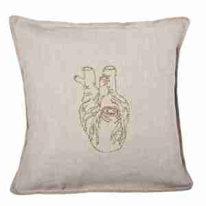 Heart of Gold Pillow (Feather-Down) by Coral & Tusk