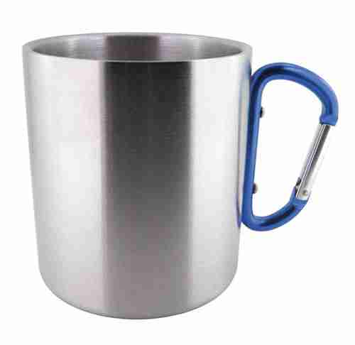 Stainless Steel D-Ring Mug (Blue) - Made by Humans