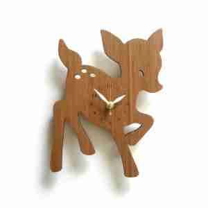 Fawn Wall Clock in Eco Friendly Bamboo by Decoylab