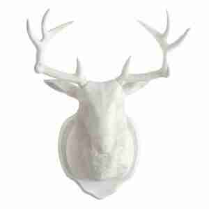 White Deer Horns Magnetic Wall or Fridge Hook by FCTRY