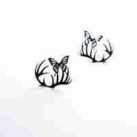 Deer & Butterfly Paper Eyelashes (Small) by PAPERSELF