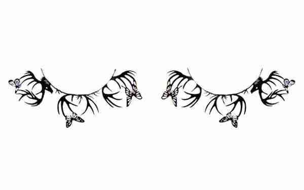 """Deer & Butterfly"" Paper Eyelashes (Large) by PAPERSELF"