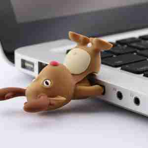 Bone Collection Brown Deer 4Gb USB Flash Personal Digital Storage Drive