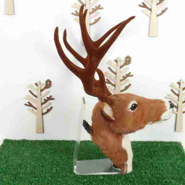 Wall Mountable Eco Fur Deer Head (Medium Size)