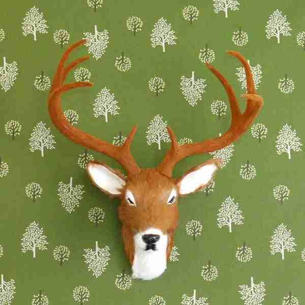 Wall Mountable Eco Fur Deer Head (Medium Size)