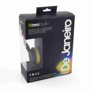 De Janeiro (Ultra-Lightweight) Headphones by Breo in Yellow / Black