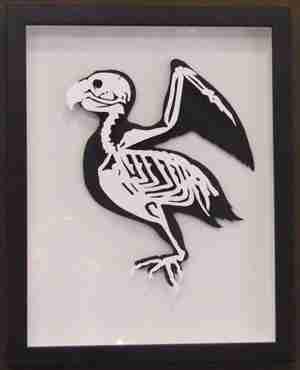 """""""Paper Cut"""" Luxury Fine Art - Dodo Anatomica (Framed)"""