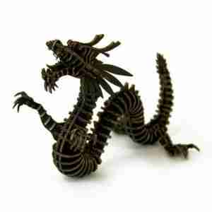 Dragon 3D Cardboard Figurine by d-Torso