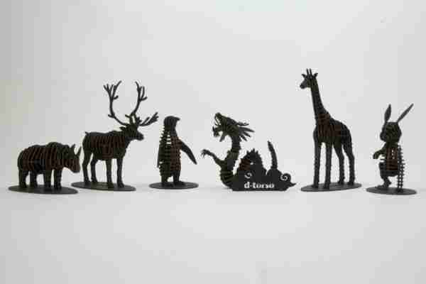 Giraffe 3D Cardboard Figurine by d-Torso