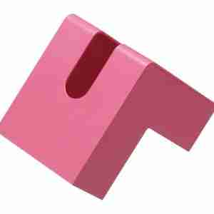 Pink L-Shaped Folio Tissue Case by +d Japan