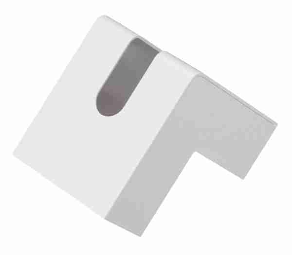 White L-Shaped Folio Tissue Case by +d Japan
