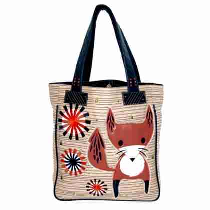 Fox Canvas Tote by Crowded Teeth