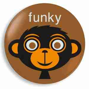 Funky Monkey Plate - Kids Homewares Designed by Jane Jenni