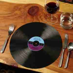 Vinyl Record Table Placemats by Gama-Go (Set of 4)
