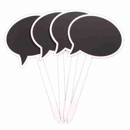 Speech Bubble Chalkboard Garden Stakes