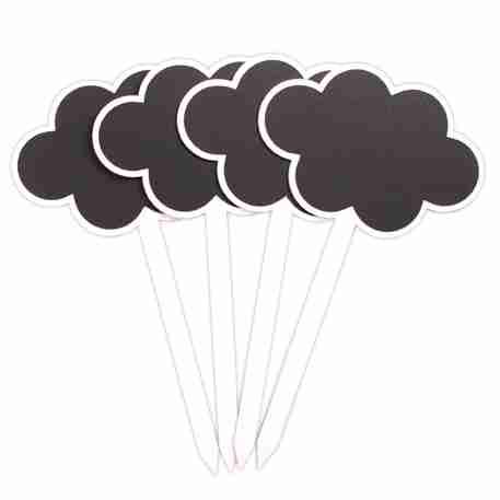 Cloud Chalkboard Garden Stakes
