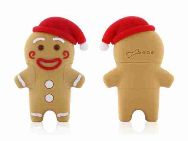 Bone Collection: Gingerbread Man 4Gb USB Flash Digital Memory Stick