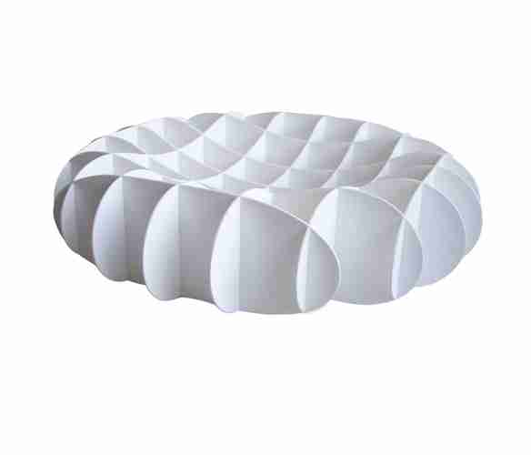 Grid Bowl: Designer Fruit Display Bowl in White