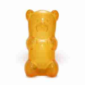 The Gummylamp: Squeezable Orange Gummy Bear Lamp