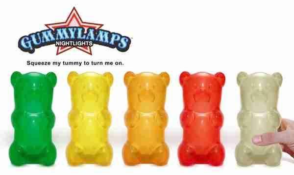 The Gummylamp: Squeezable Green Gummy Bear Lamp