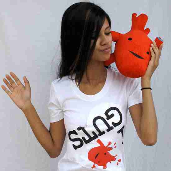 Humongous Heart Plushie By I Heart Guts
