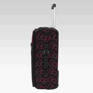 Hello Kitty by Loungefly Black/Pink Dots Bows Carry On Luggage