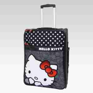 Hello Kitty by Loungefly Black/White Polka Dot Carry On Luggage