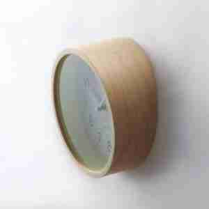 Lumino Glowing Wall Clock by IDEA - Dark Wood