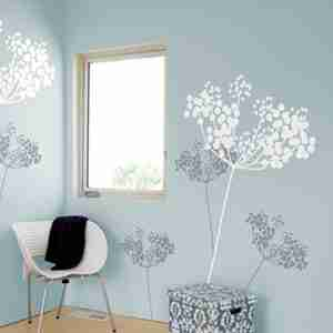 Anise Wall Sticker Snow & Graphite by Ilan Dei