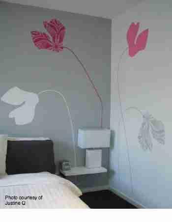 Cyclamen Wall Sticker in Raspberry, Cotton Candy by Ilan Dei