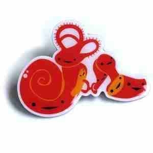 Inner Ear Lapel Pin by I Heart Guts