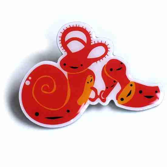 Inner Ear Lapel Pin by I Heart Guts