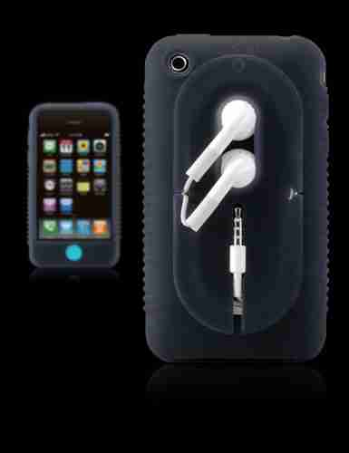 Bone Collection Black Apple iPhone 3GS Wrap Stylish Protective Case