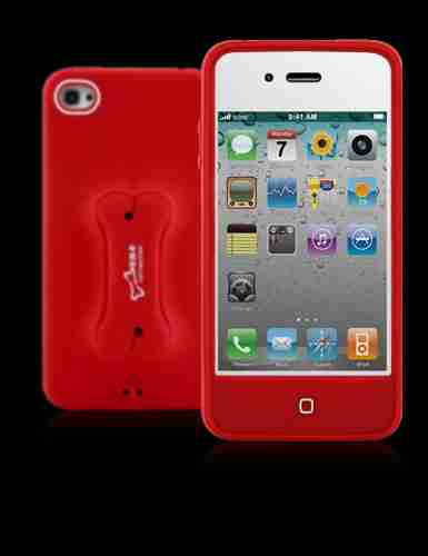 Bone Collection iPhone 4 Doggy Stylish Protective Case in Red