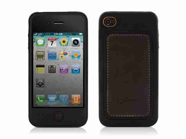Bone Collection Apple iPhone 4 Leather Stylish Protective Case Black