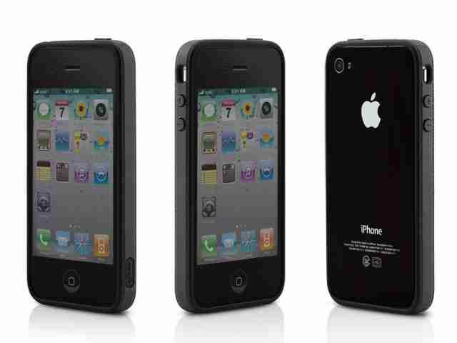 Bone Collection Black Apple iPhone 4 Ring Stylish Protective Case