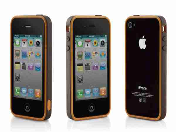 Bone Collection Pink Apple iPhone 4 Ring Stylish Protective Case