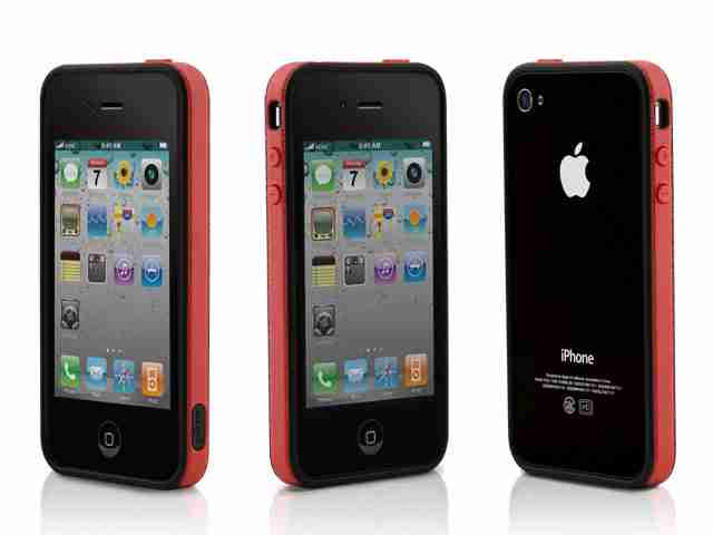 Bone Collection Red Apple iPhone 4 Ring Stylish Protective Case