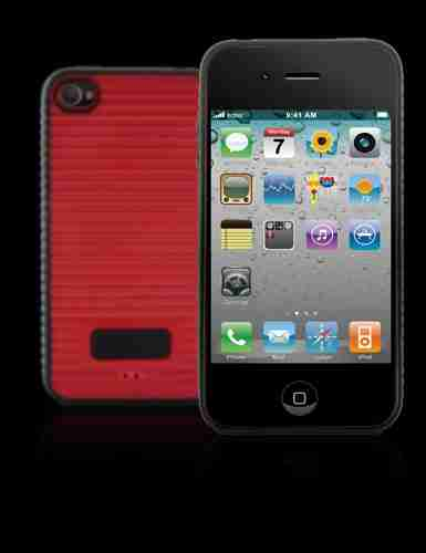 Bone Collection Red Apple iPhone 4 Wave Stylish Protective Case