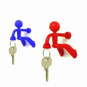 Key Pete - Magnetic Man Key Holder Assortment of Black, Red, Blue