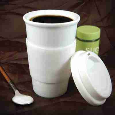 Eco Coffee Cup Porcelain in White