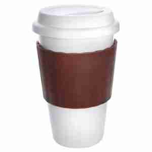 Eco Coffee Cup Porcelain in Brown