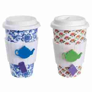 Eco Cup Tea Lovers Porcelain in Blue