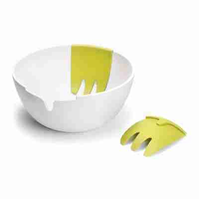 Hands On Salad Bowl and Servers (White) by Joseph Joseph
